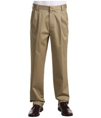 Dockers Signature Khaki D3 Classic Fit Pleated Dark Khaki Men's Casual Pants