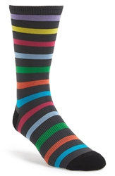 G Fore 'Favorite Stripe Crew' Golf Socks Charcoal