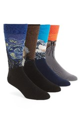 Hot Sox Men's The Museum Collection 4 Pack Socks