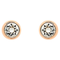 Finesse Swarovski Crystal Stud Earrings Rose Gold