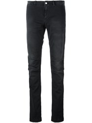P.A.R.O.S.H. Slim Fit Straight Leg Jeans Black