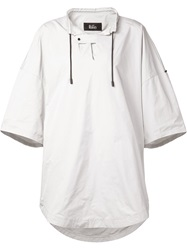 The Reracs Oversized Drawstring Blouse White