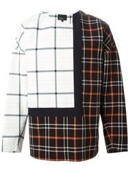 3.1 Phillip Lim Plaid Patchwork Sweatshirt White