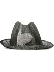 Reinhard Plank Double Overlay Distressed Hat Black