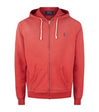 Polo Ralph Lauren Small Pony Zip Up Hoodie Male Red