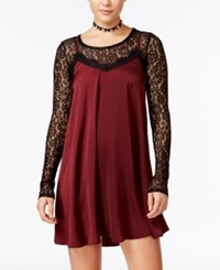 Material Girl Juniors' 2 Pc. Lace Trim Slip Dress Only At Macy's Zinfandel Combo