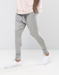 Sixth June Slouchy Skinny Joggers With Drop Crotch Grey