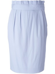 Moschino Paper Bag Waist Skirt Blue