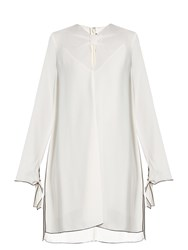 Proenza Schouler Knotted Front Crepe Dress Cream