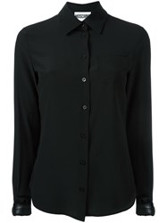 Moschino Buckle Cuff Blouse Black