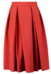 Mintandberry Pleated Skirt Red Ochre Dark Red