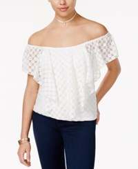 American Rag Off The Shoulder Popover Top Only At Macy's Cloud Dancer