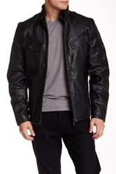 Barbour Arielston Genuine Leather Jacket Black