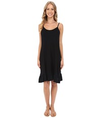 Allen Allen Cami Ruffle Dress Black Women's Dress