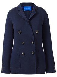 Winser London Milano Wool Double Breasted Blazer Midnight Navy