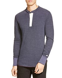 Todd Snyder Champion Long Sleeve Henley Blue