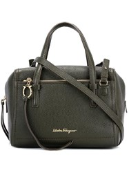 Salvatore Ferragamo Small Gancio Satchel Green