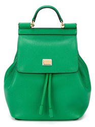 Dolce And Gabbana 'Sicily' Backpack Green