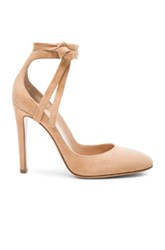 Gianvito Rossi Suede Ankle Tie Pumps In Neutrals