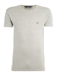 Duck And Cover Bond Slim Fit Crew Neck T Shirt Grey