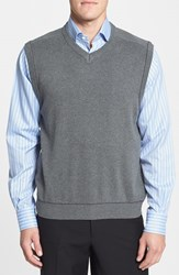 Men's Cutter And Buck 'Broadview' Cotton V Neck Vest Charcoal Heather