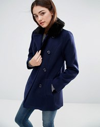 Sugarhill Boutique Becky Coat Navy Black