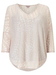 Phase Eight Spot Burnout Top Pale Pink