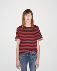 R 13 Striped Boy Tee Red Charcoal Baby Stripe