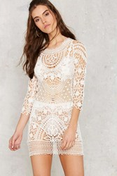 Nasty Gal Crochet There Lace Dress