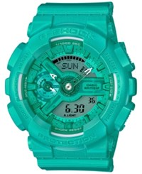 G Shock Women's Analog Digital S Series Teal Resin Strap Watch 46X49mm Gmas110vc 3A