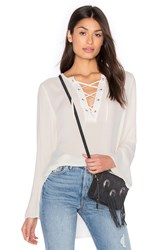Bella Dahl Bell Sleeve Lace Up Top White
