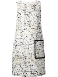 Lisa Perry 'Pollock' Dress White