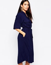 Motel Belini Shirt Dress Navy