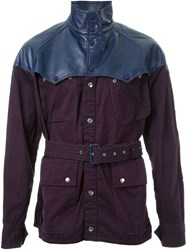 Sacai Cargo Jacket Pink And Purple