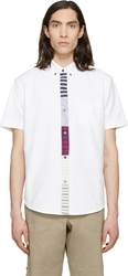 Band Of Outsiders White Patchwork Shirt