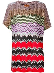 Missoni Wide Fit Chevron T Shirt Multicolour