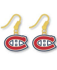 Aminco Montreal Canadiens Logo Drop Earrings Team Color