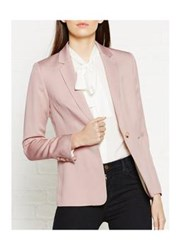 Reiss Lisa Single Breasted Blazer Blush