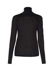 Jil Sander Roll Neck Long Sleeved Sweater Black