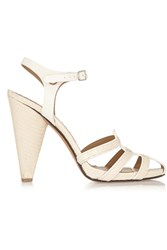 Sonia Rykiel Elaphe And Leather Sandals White