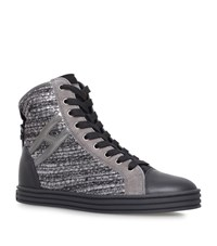 Hogan Boucle High Top Sneakers Female Grey