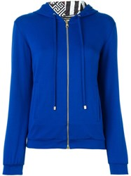 Versace Zipped Up Cardigan Blue