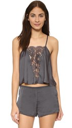 Free People Jones Cami Charcoal