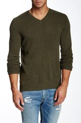 Bonobos Castlerock Cashmere V Neck Sweater Green