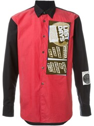 Comme Des Garcons Gara Ons Vintage Patched Shirt Red
