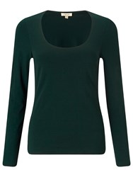 Jigsaw Double Front Scoop Tee Green