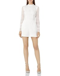 Reiss Tabitha Lace Overlay Romper Off White