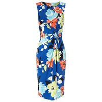 Precis Petite Multi Floral Jersey Dress Mid Blue