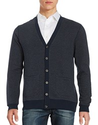 Black Brown Striped Cardigan Navy Blazer