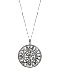 Lord And Taylor Sterling Silver Marcasite Pendant Necklace